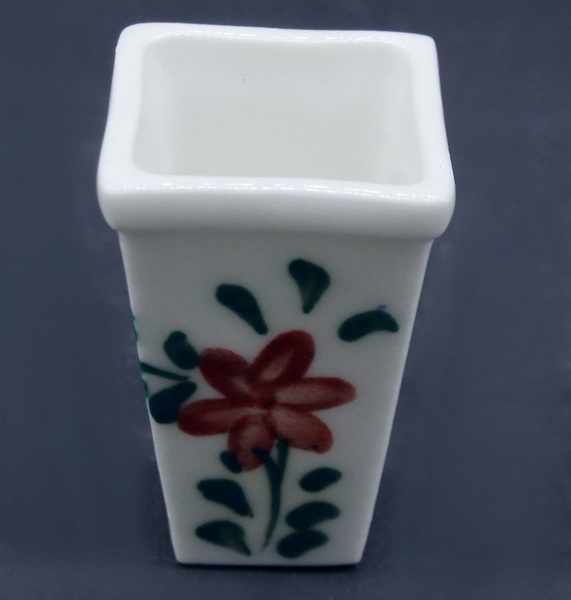 Miniature Ceramic Pot Square Shape
