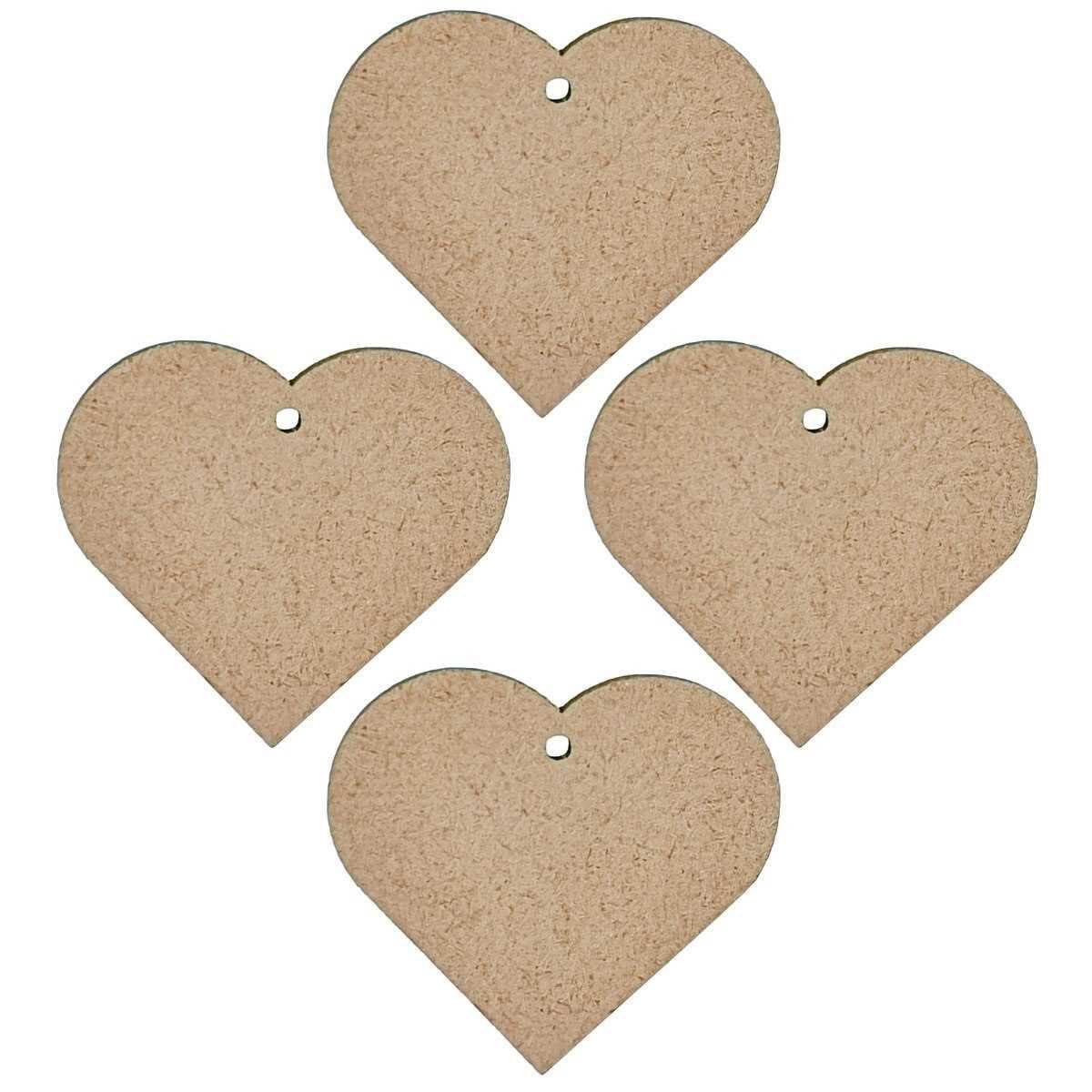MDF Pendant Heart Cutout