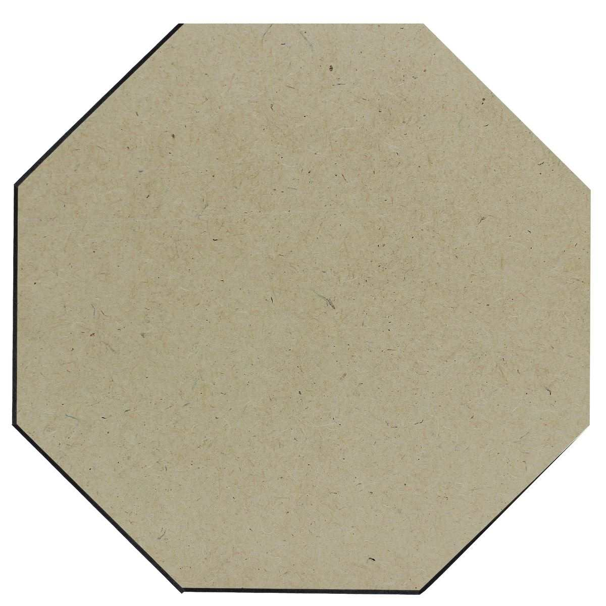 MDF Wooden Plate Hexagon Shape (Pack of 4) (10x10 Inch) (4MM Thick)
