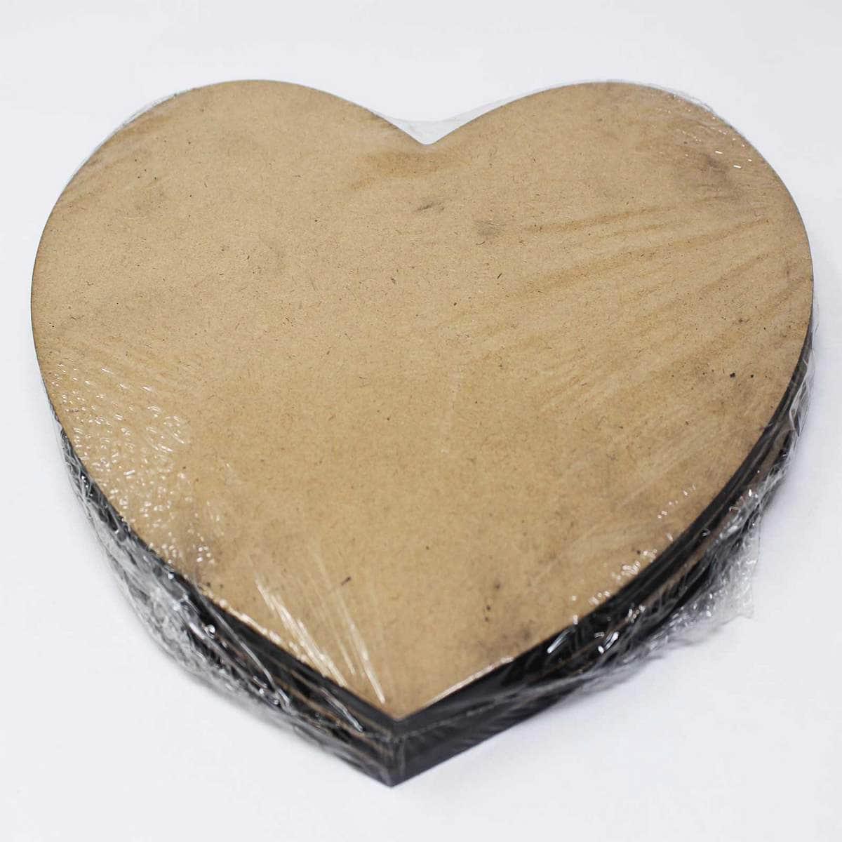 MDF Plate Heart Shape