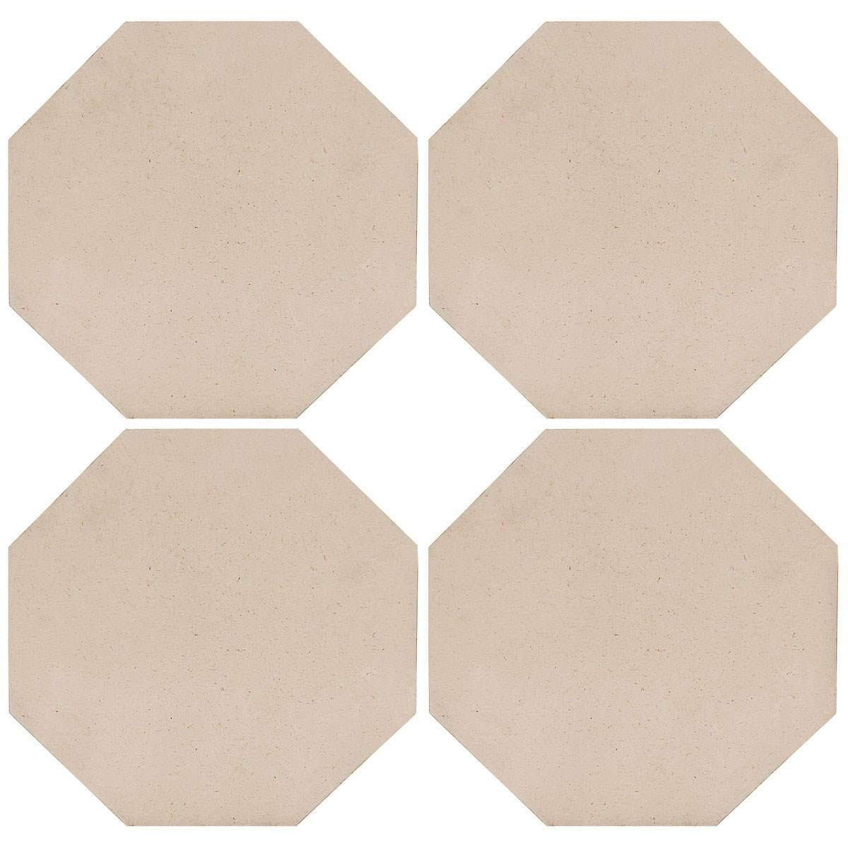 MDF Wooden Plate Octagon Shape (Pack of 4) (10x10 Inch) (4MM Thick)