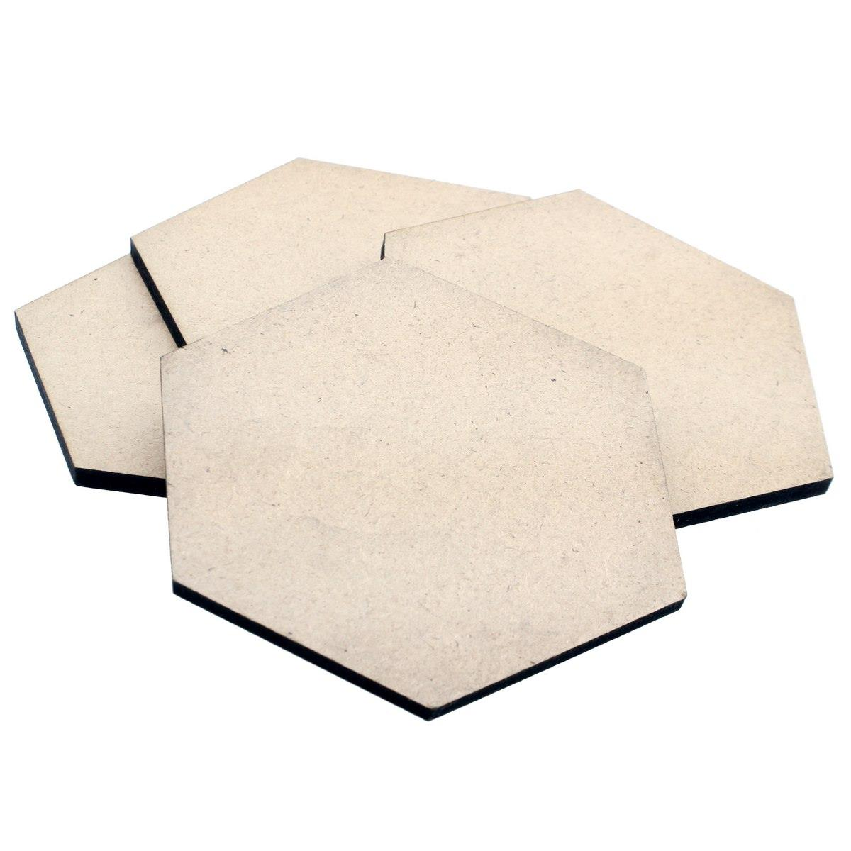 MDF Wooden Plate Octagon Shape (Pack of 4) (4x4 Inch) (4MM Thick)