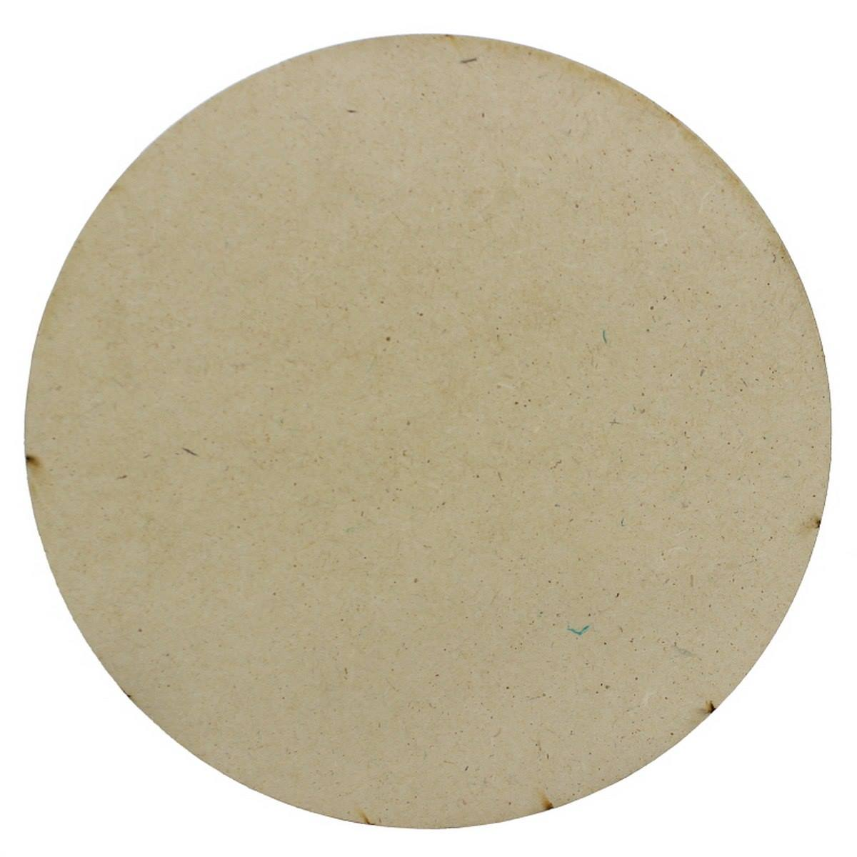 MDF Wooden Plate Round Shape (Pack of 4) (5x5 Inch) (4MM Thick)