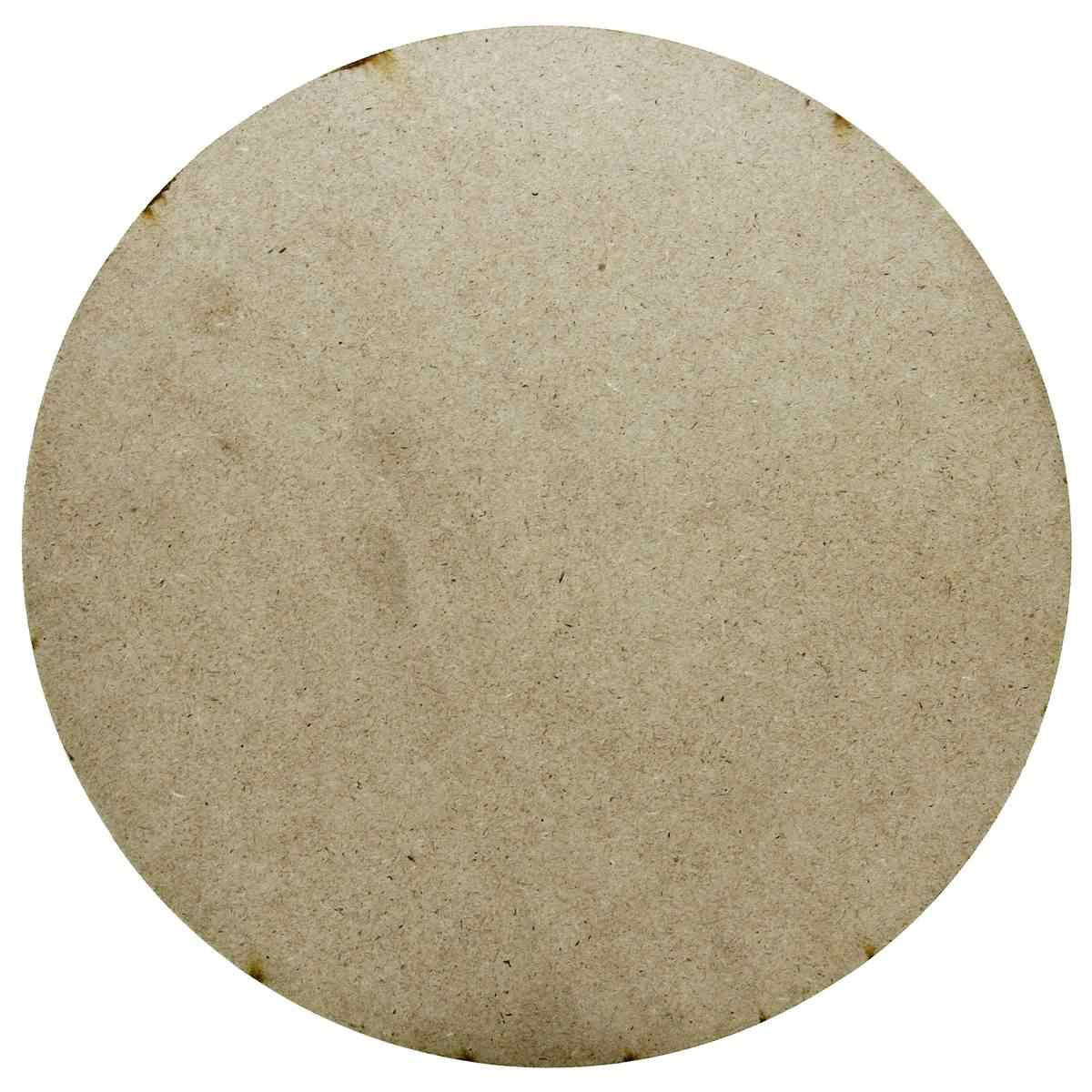 MDF Wooden Plate Round Shape (Pack of 4) (9x9 Inch) (4MM Thick)