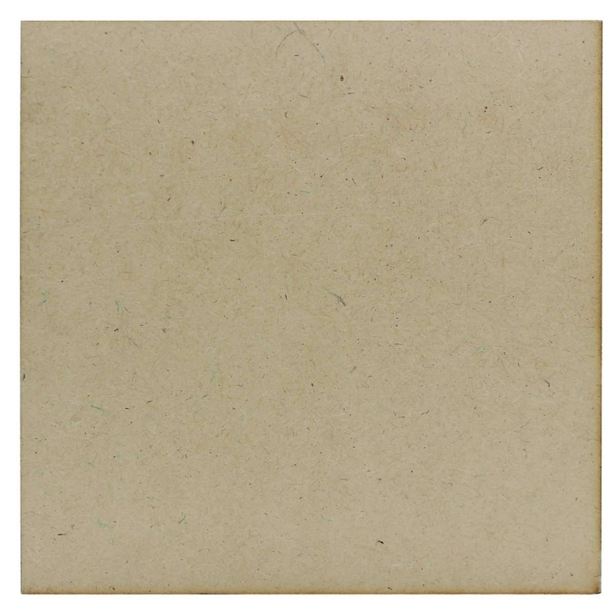 MDF Wooden Plate Square Shape (Pack of 4) (7x7 Inch) (4MM Thick)
