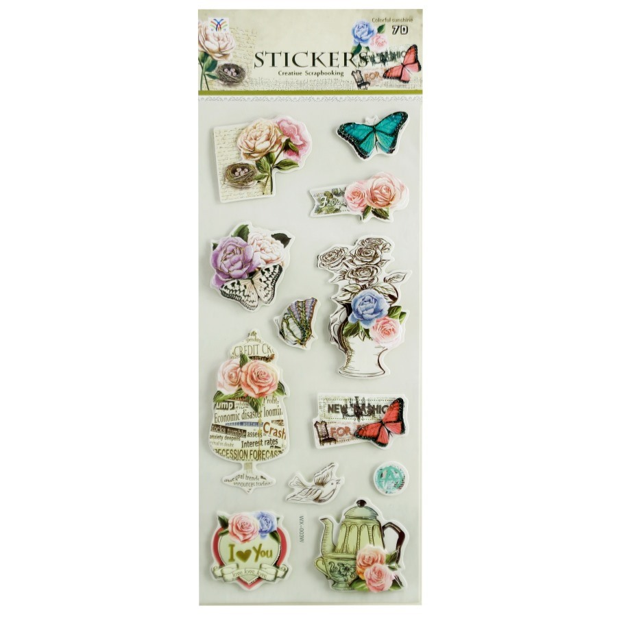 3D Stickers Vintage Theme