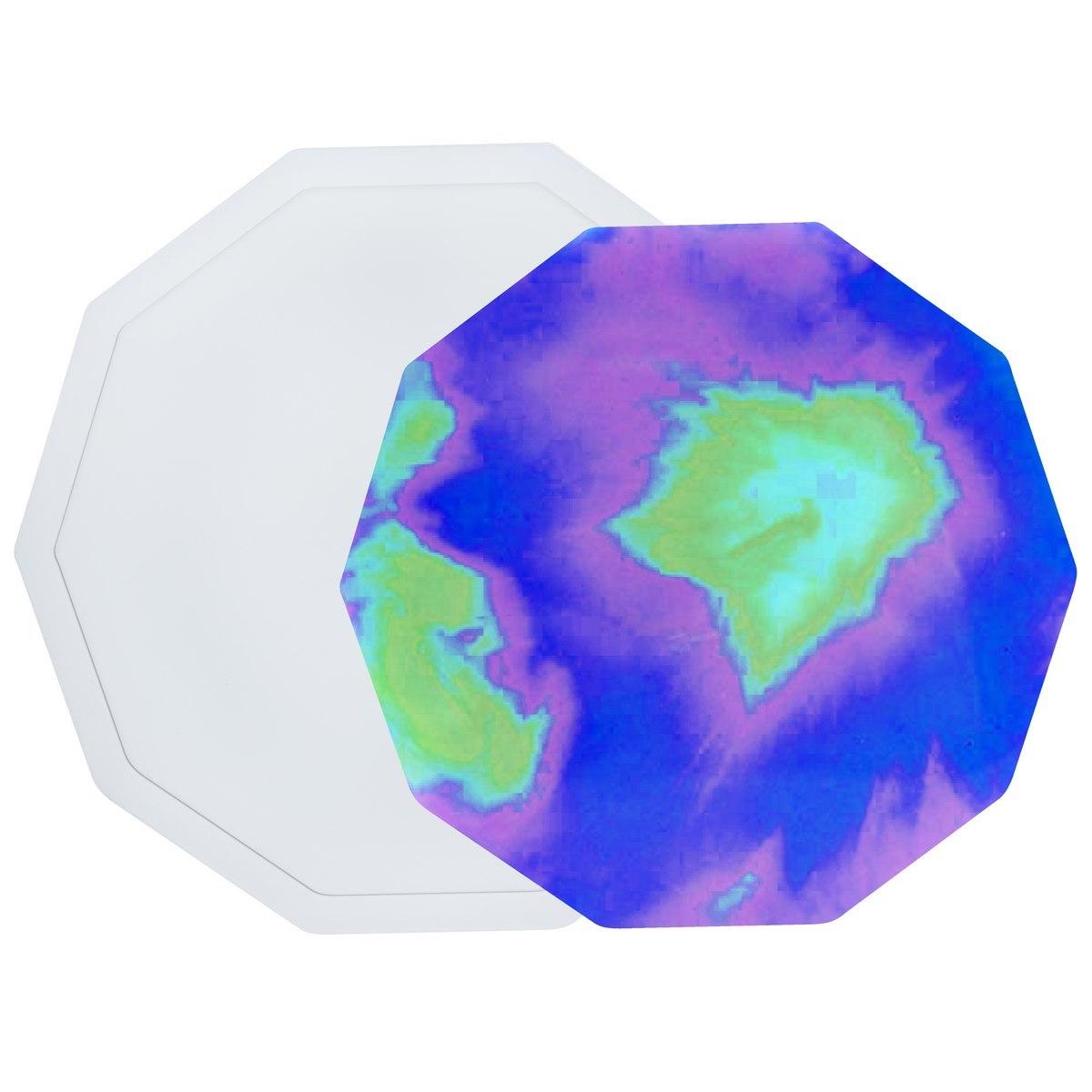 Silicone Mould - Decagon Coaster