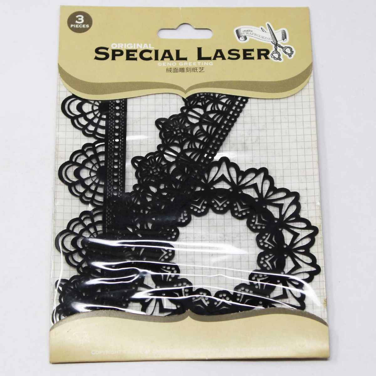Laser Cutouts Black