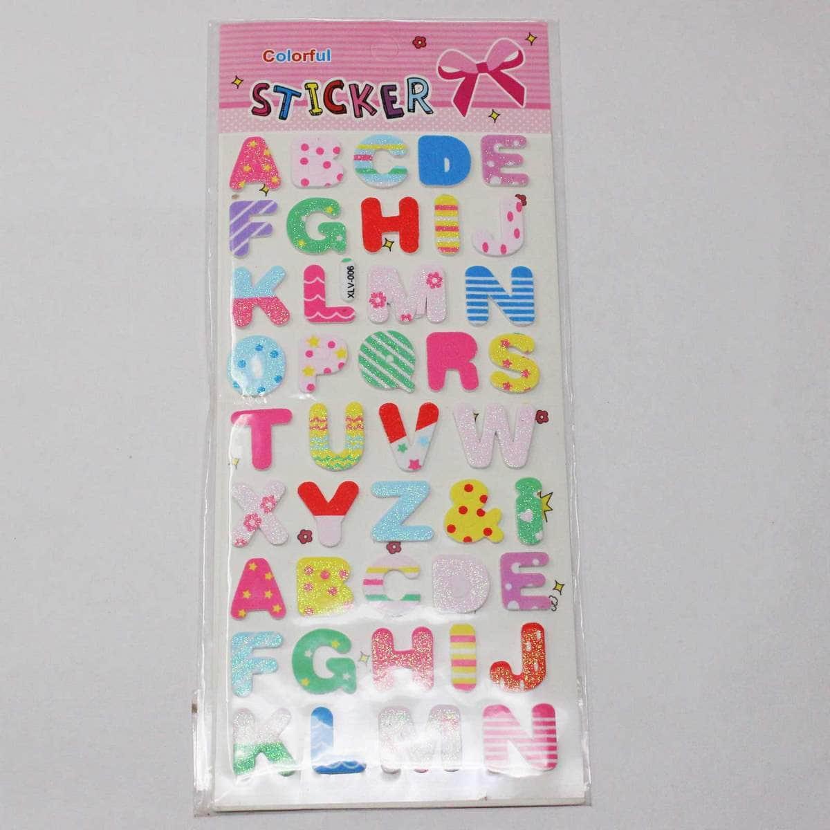 Foam Sticker With Glitter Alphabets Design