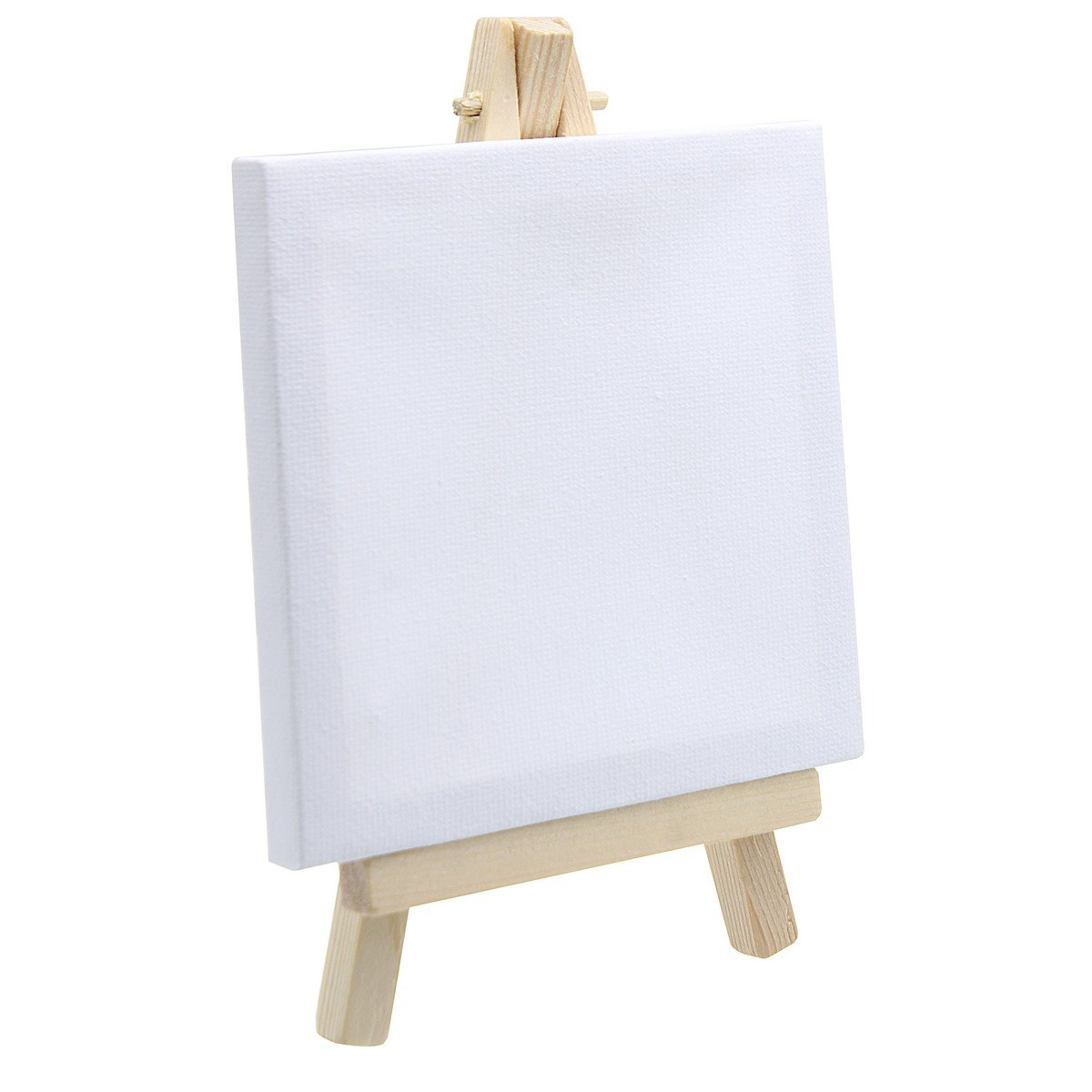 Mini Stretched Canvas With Easel (4x4 Inch)