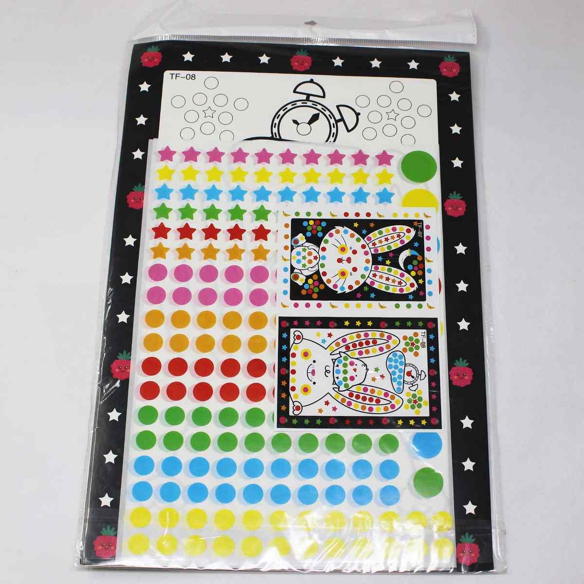 A4 Drawing Sticker Rabbit & Bird Design