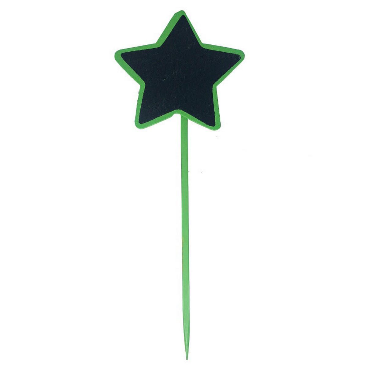 Wooden Message Drawing Black Board Star Shape