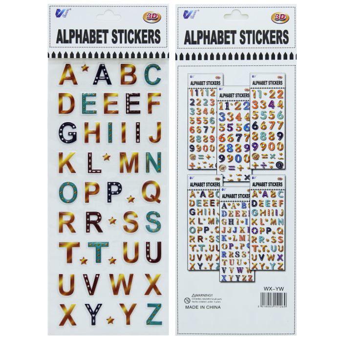 Plastic Sticker A to Z Design