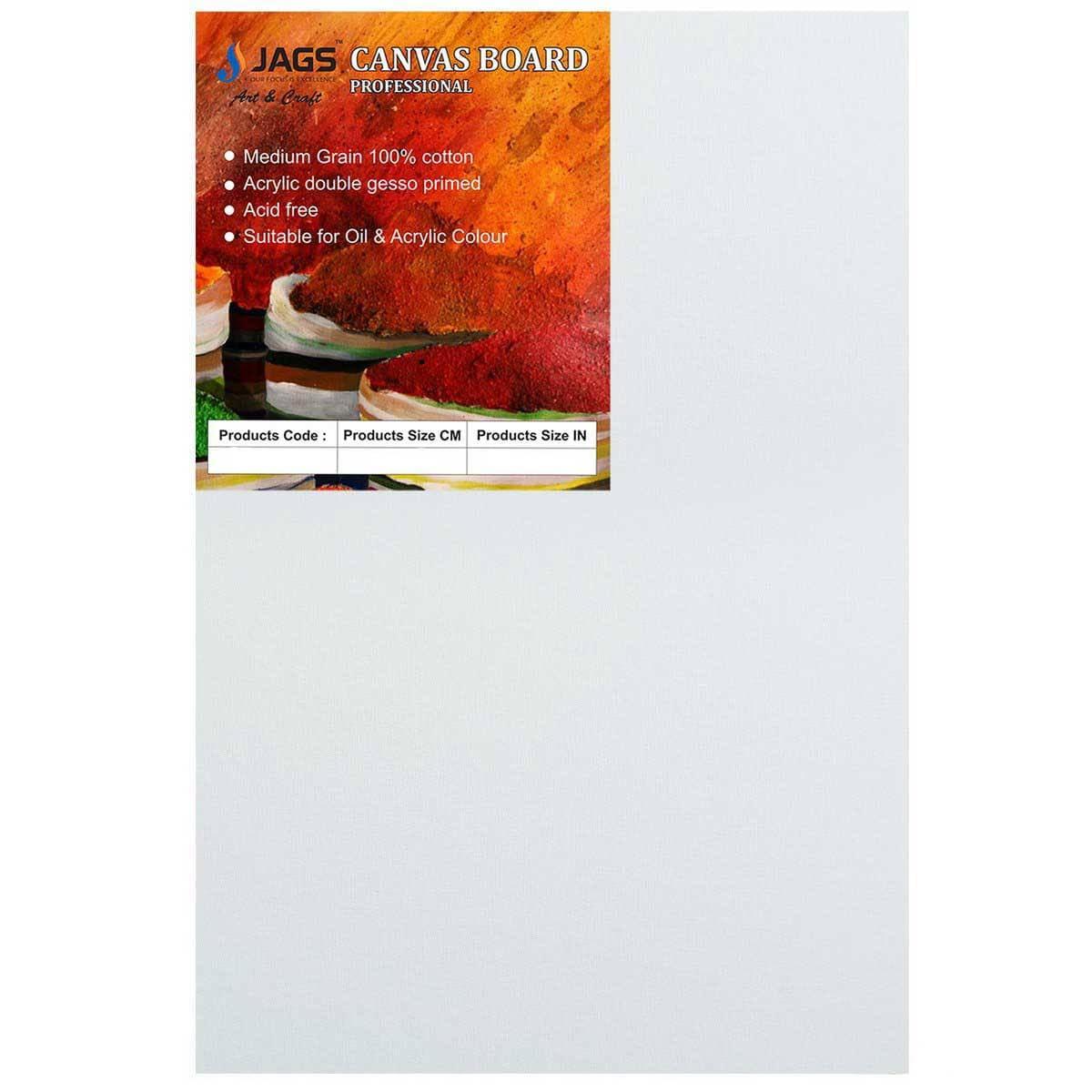 MDF White Canvas Board Size: 30.5 X 61 cm (12x24 Inches)
