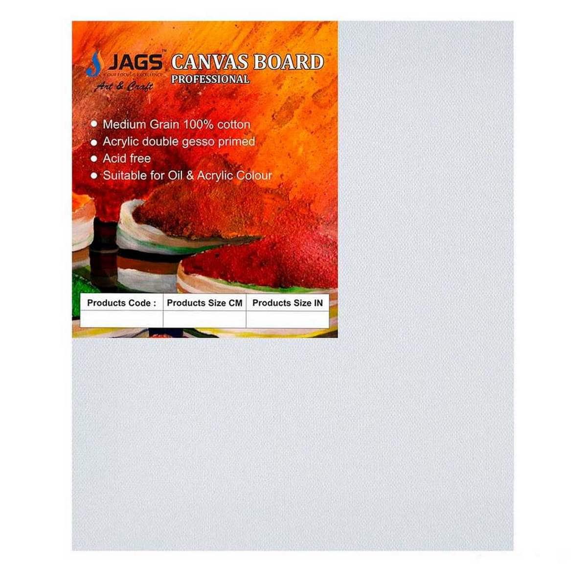MDF White Canvas Board Size: 25.4X30.48 cm (10X12 Inches)